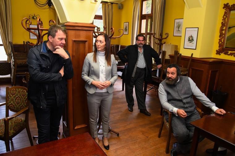 Председник Мировић на снимању филма о Светозару Милетићу